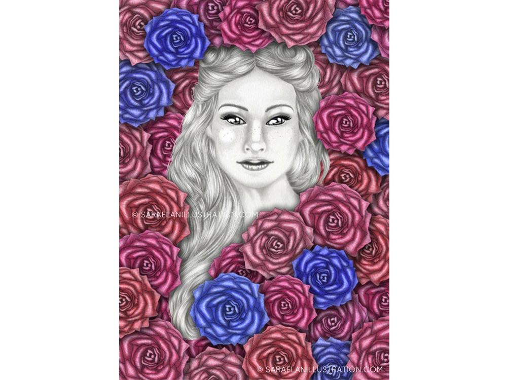 Se son rose fioriranno - Charlotte - versione grafica con le rose blu