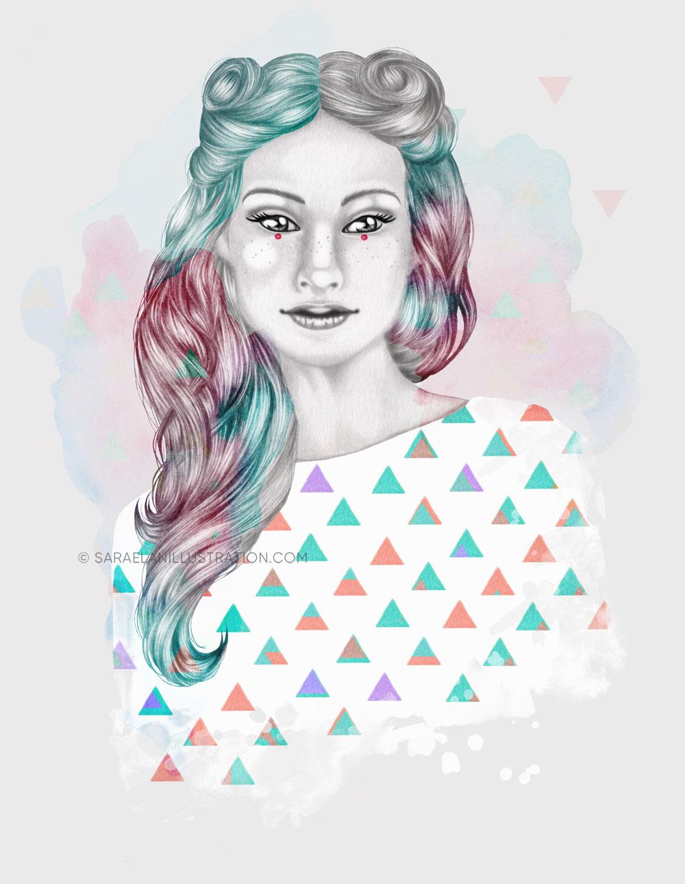Charlotte - seconda versione con le macchie di acquerello