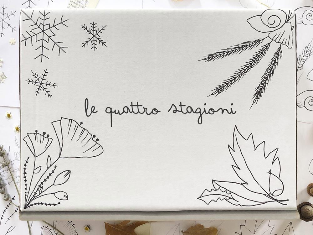 Gift box cofanetto regalo dedicato alle Quattro Stagioni