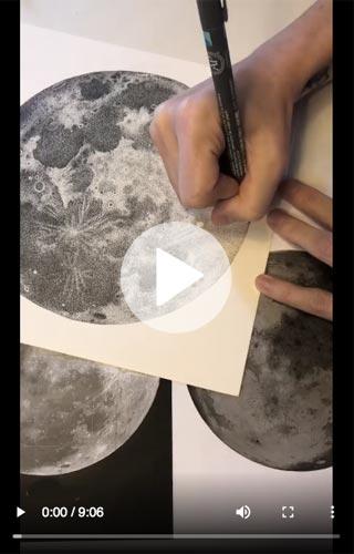 Disegnando la luna IGTV