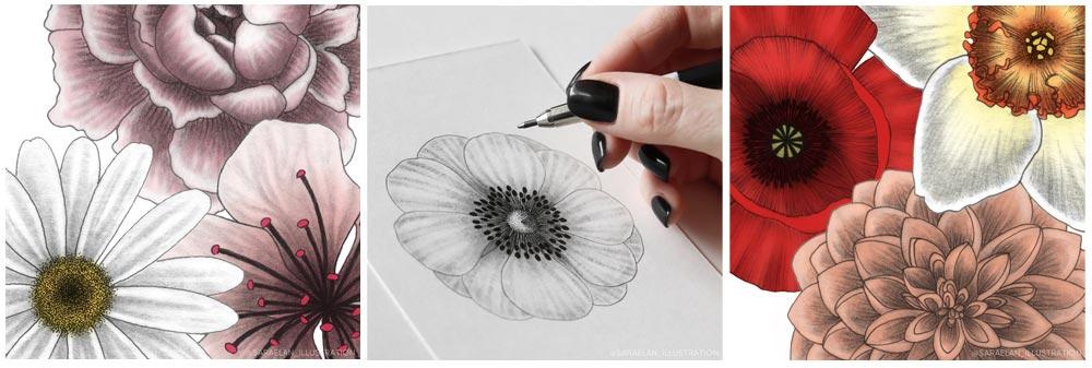 Disegni-floreali-di-saraelan-illustration
