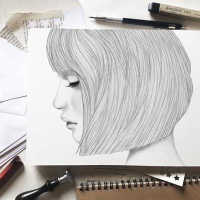 Disegni mossi-Animazione di ragazza che apre gli occhi