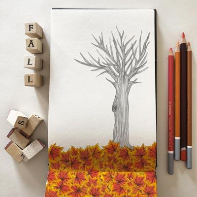 Disegni mossi-Animazione di foglia che cade in autunno