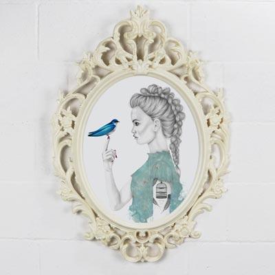 Disegni mossi-Animazione di uccellino blu che vola