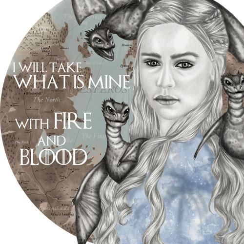 Disegno di Daenery Targaryen