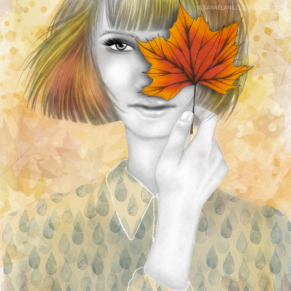 La ragazza autunno di Saraelan illustration