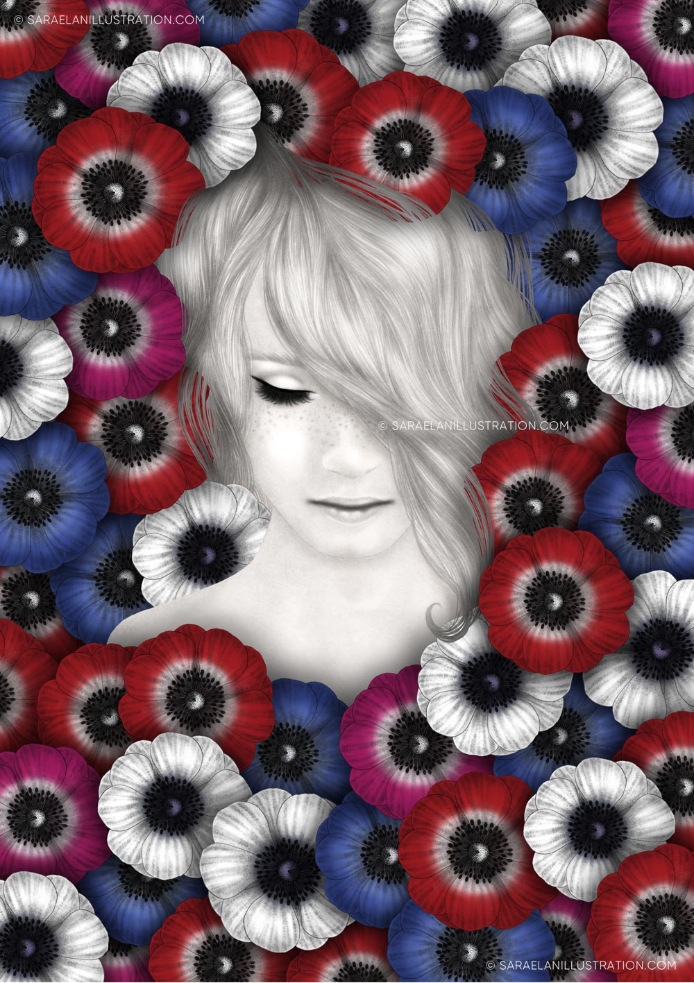Illustrazioni-di-ragazze-con-fiori-ragazze-fiorite-anemoni