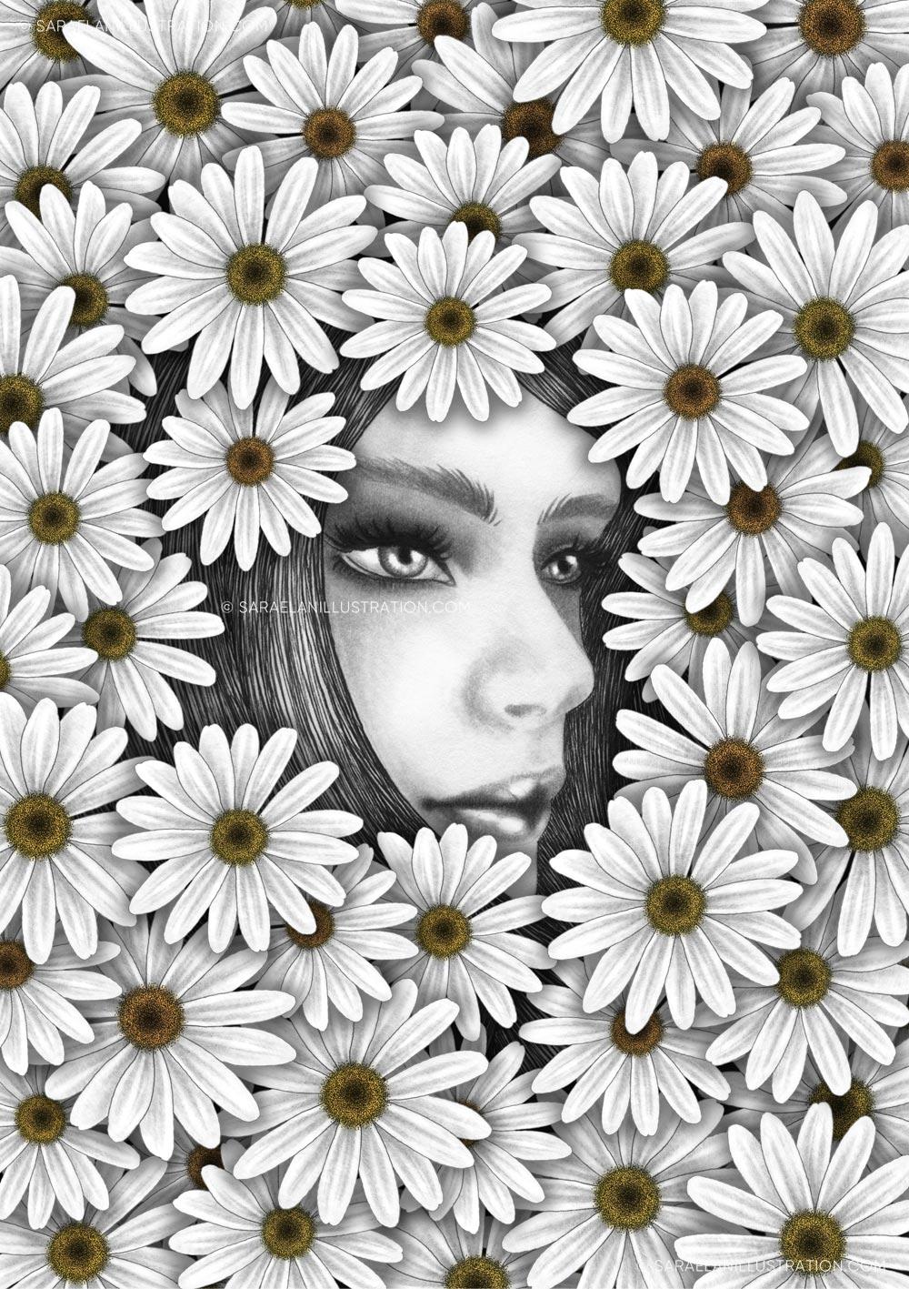 Illustrazioni-di-ragazze-con-fiori-ragazze-fiorite-margherite