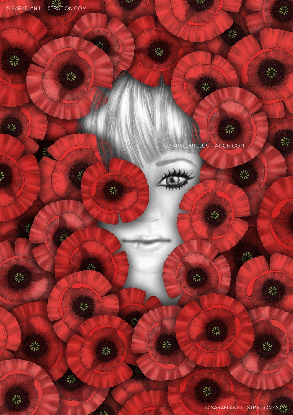 Illustrazioni-di-ragazze-con-fiori-ragazze-fiorite-papaveri