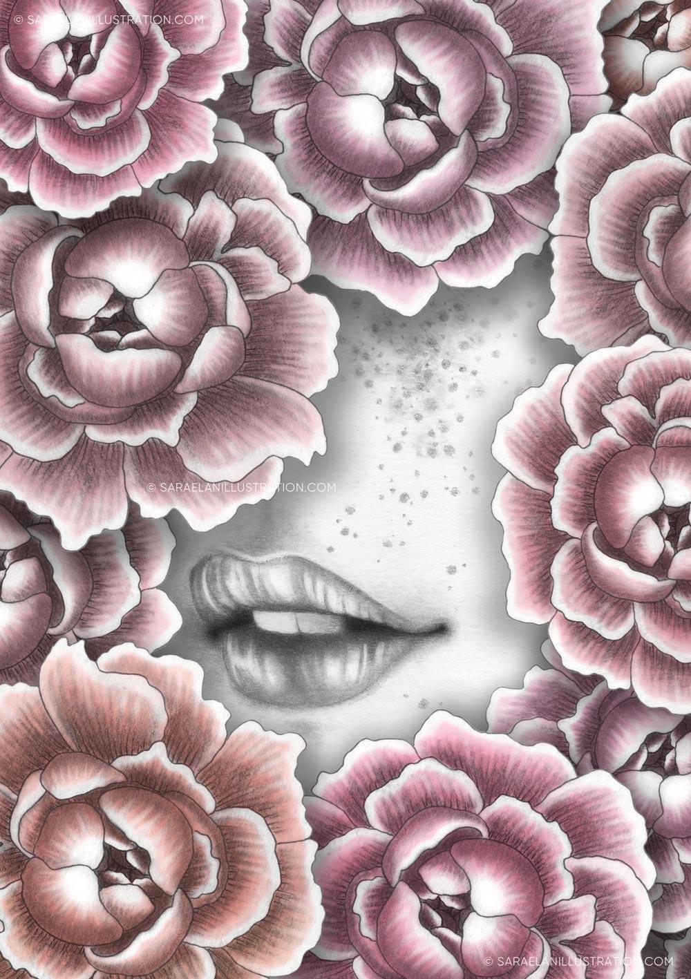 Illustrazioni-di-ragazze-con-fiori-ragazze-fiorite-peonie