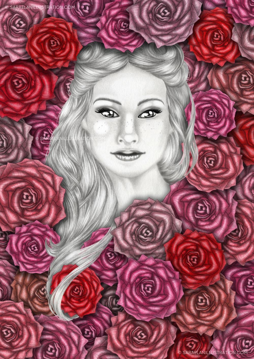 Illustrazioni-di-ragazze-con-fiori-ragazze-fiorite-rose