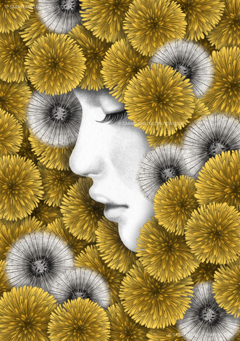 Illustrazioni-di-ragazze-con-fiori-ragazze-fiorite-soffioni