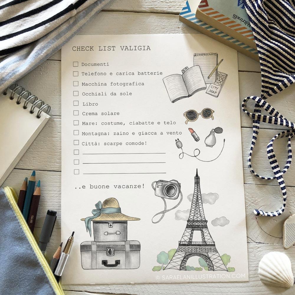 Illustrazioni personalizzate per newsletter di luglio a tema viaggio a Parigi
