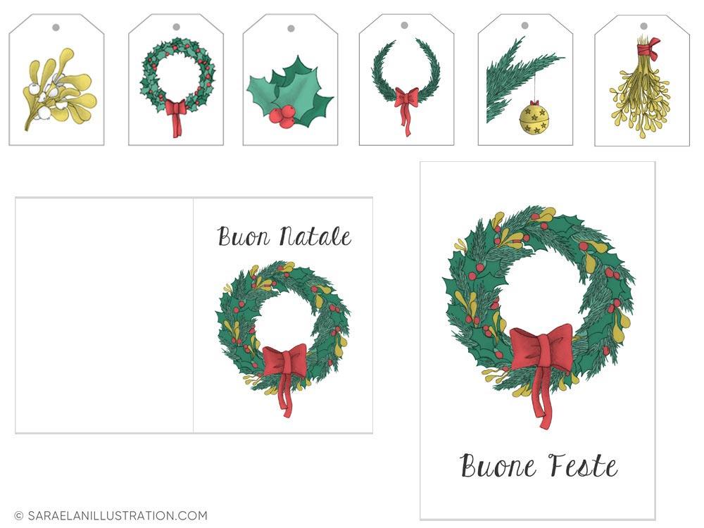 Tag per regali di Natale e biglietti stampabili