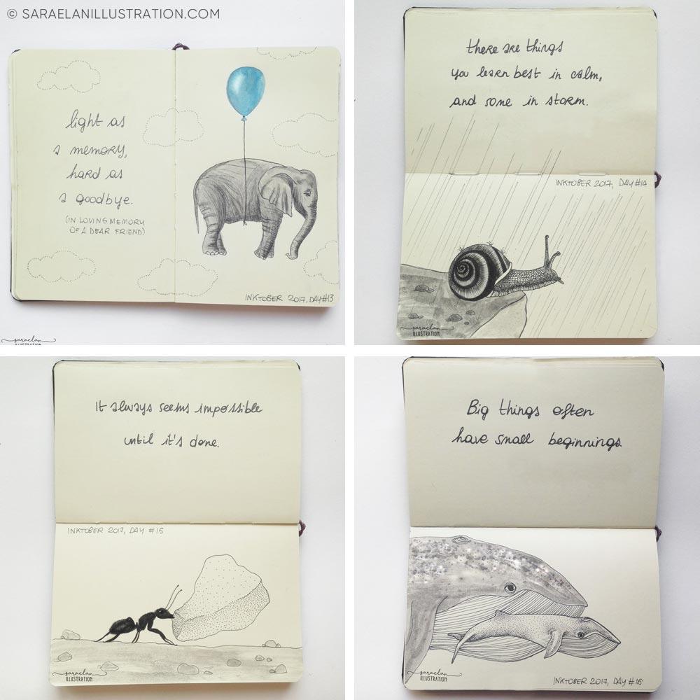 Animali e metafore progetto inktober 2017 animali con frasi che creano metafore