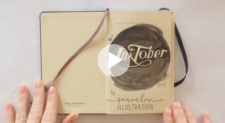 Inktober su una moleskine video