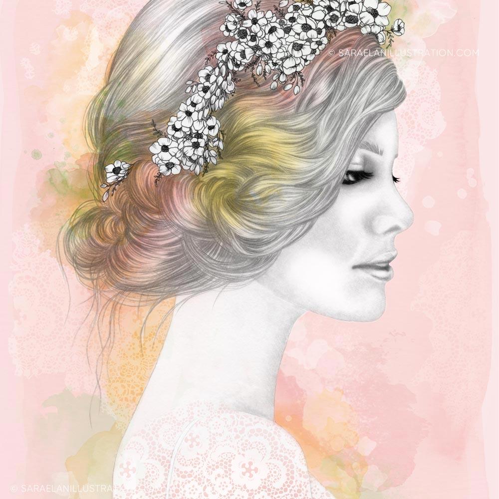 Illustrazione di ragazza primavera
