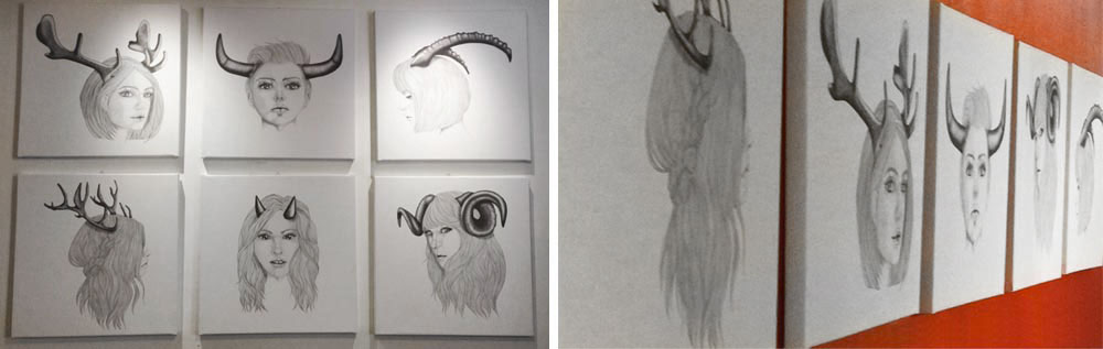 Le figlie di Cernunno in esposizione stampate su tela