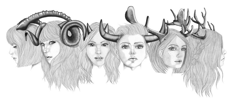 Disegni di ragazze con le corna