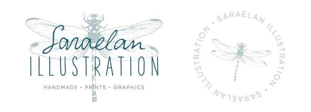 Logo di Saraelan illustration creato da Giada Miel Cafe Design