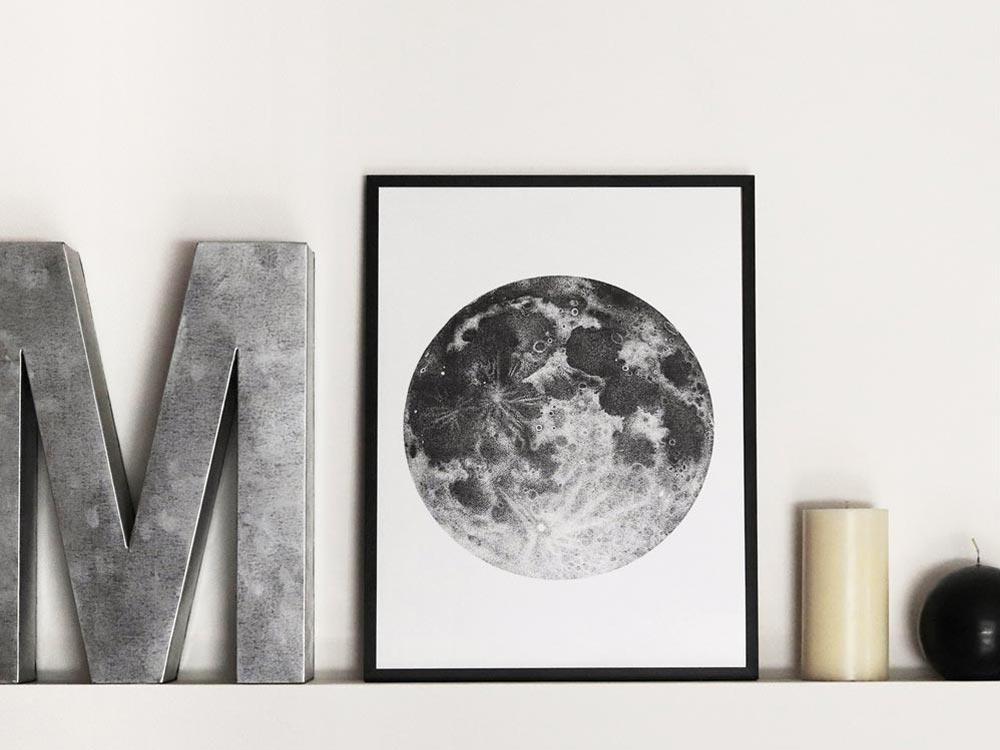 Stampa di luna piena