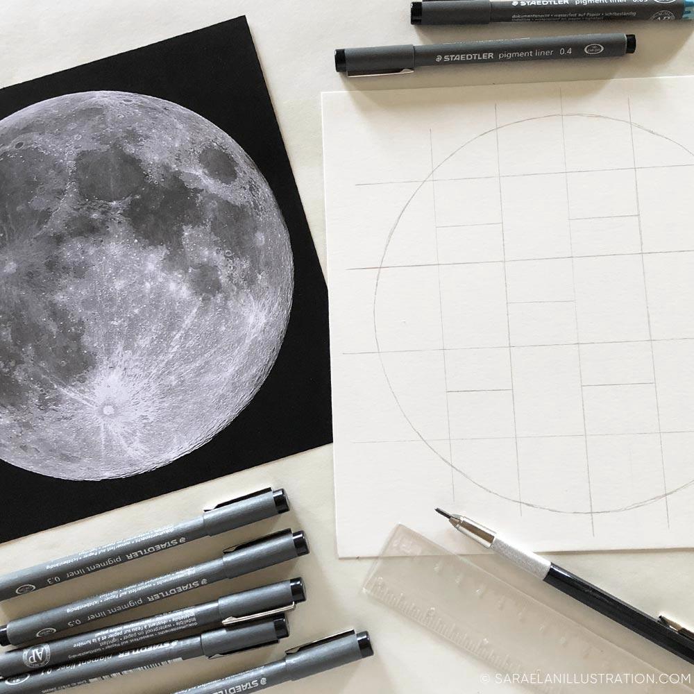 Progetto luna piena suddivisione spazi disegno