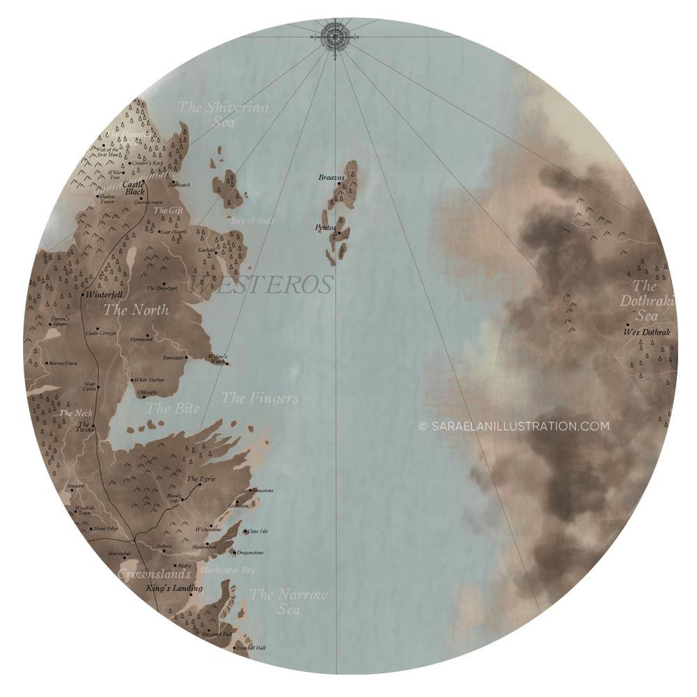 Mappa di westeros creata con Photoshop