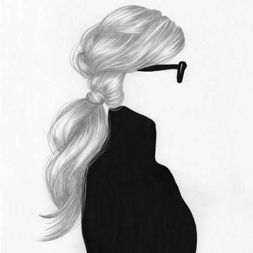Ritratto di ragazza senza volto