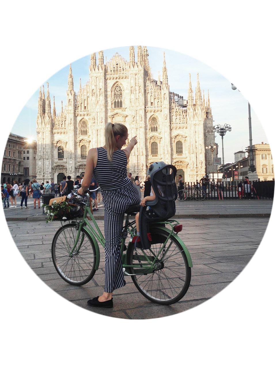 Sara Elan Donati - Saraelan illustration milanese in bicicletta