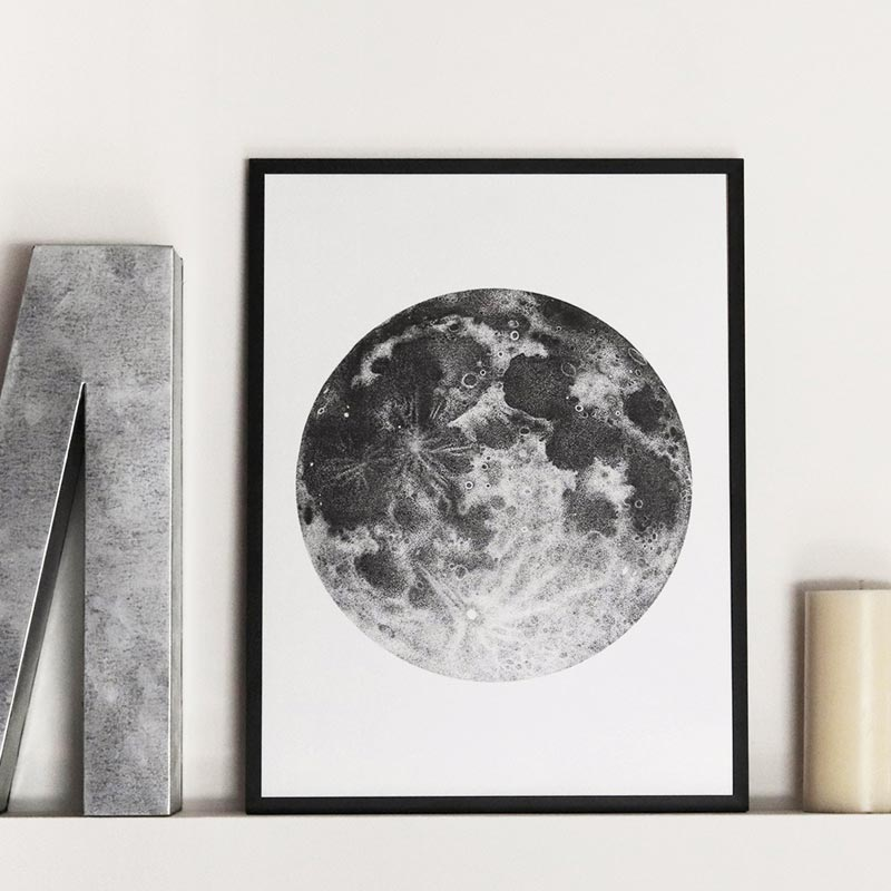 Sara Elan Donati - Saraelan illustration - stampa luna piena