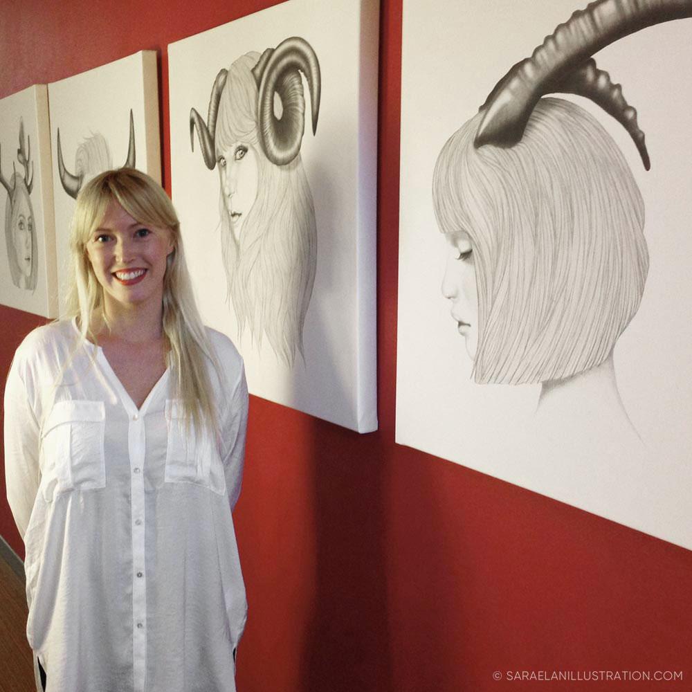 Sara Elan Donati esposizione IF idea factory coworking milano