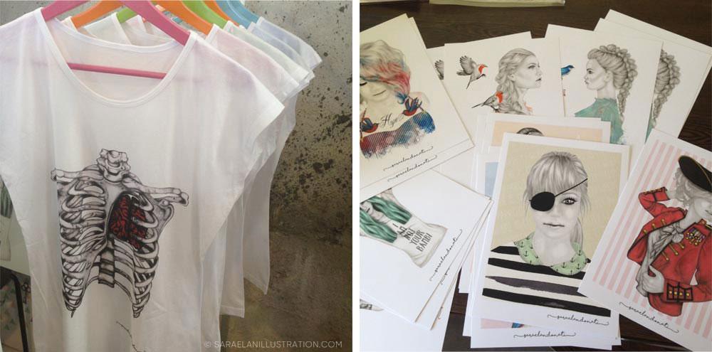 magliette e stampe fatte per East Market Milano