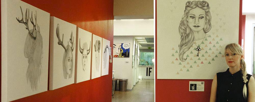 Saraelan illustration all'IF idea factory Milano