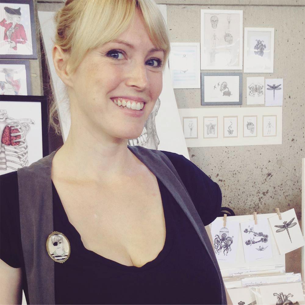 Sara Elan Donati felice all'East Market