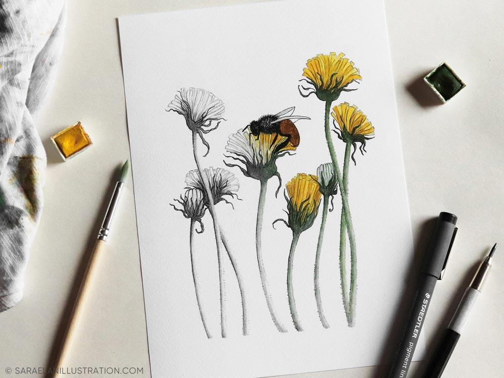 Illustrazione metafora dell'importanza e salvaguardia delle api