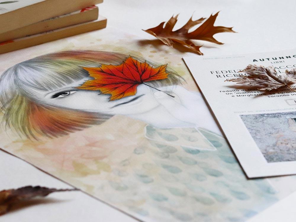 Stampa ragazza autunno e ricette autunnali