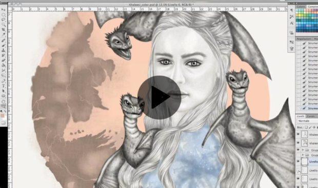 Video di Photoshop creando mappa Game of Thrones