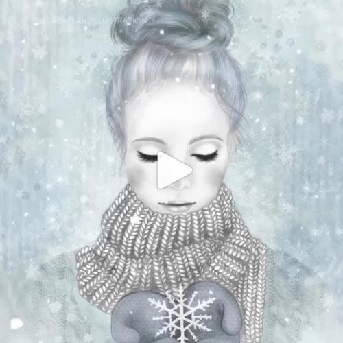 Video animazione di nevicata