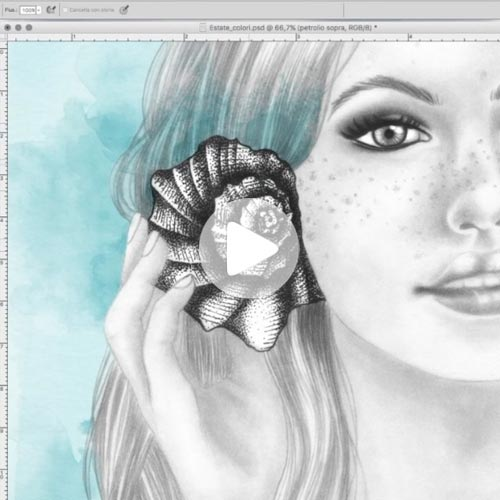 Video di photoshop colorazione digitale