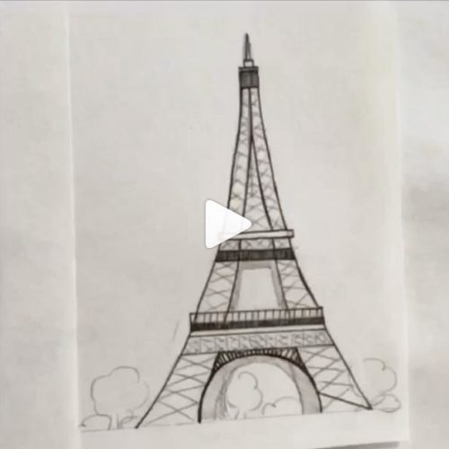 Video disegnando la Tour Eiffel di Saraelan illustration