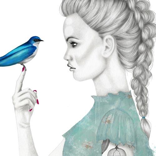 Ragazze con uccellini