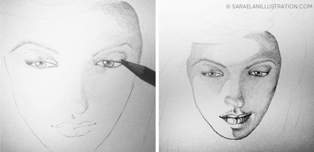 Far pratica nel disegno work in progress